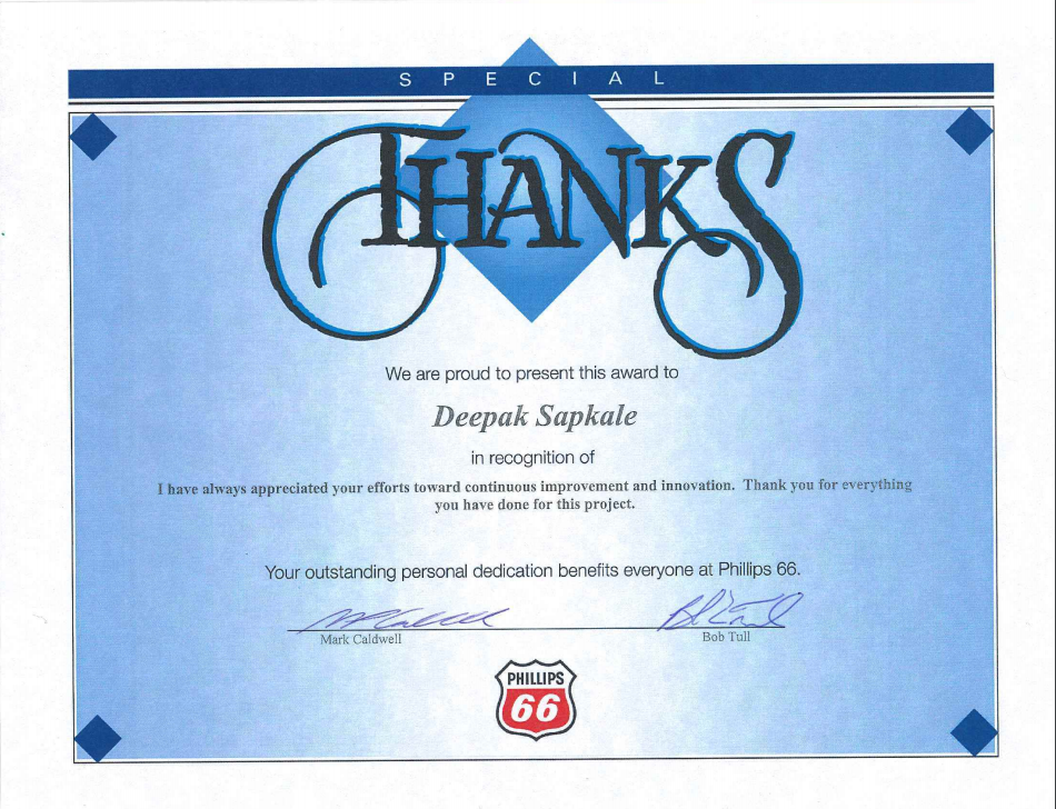 Appreciation By Phillips66